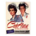 Enfermera del cadete postal