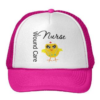 Enfermera del cuidado de la herida del polluelo v1 gorras