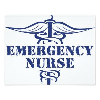 enfermera del emer invitación 10,8 x 13,9 cm