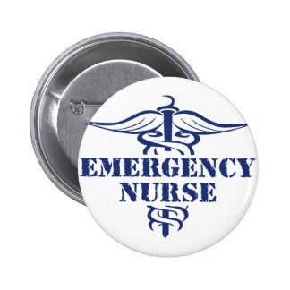 enfermera del emer pin redondo de 2 pulgadas