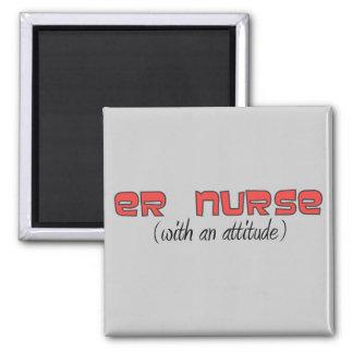 Enfermera del ER (con una actitud) Imán Cuadrado