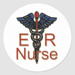Enfermera del ER Etiqueta Redonda