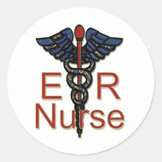 Enfermera del ER Pegatina Redonda