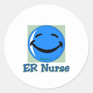 Enfermera del HF ER Etiquetas Redondas