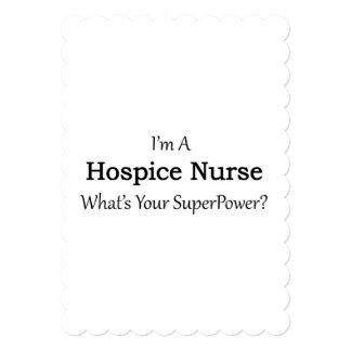 """Enfermera del hospicio invitación 5"""" x 7"""""""