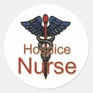 Enfermera del hospicio pegatina redonda