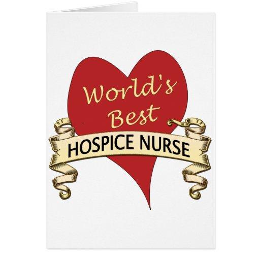Enfermera del hospicio tarjeta de felicitación