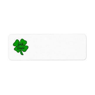 Enfermera del irlandés etiquetas de remite