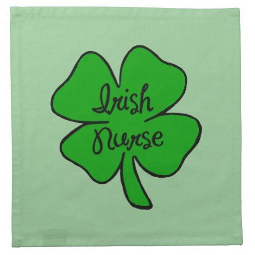 Enfermera del irlandés servilletas de papel