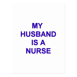 Enfermera del marido tarjeta postal