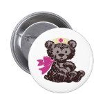 Enfermera del oso de peluche (rosa) pins