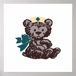 Enfermera del oso de peluche trullo impresiones