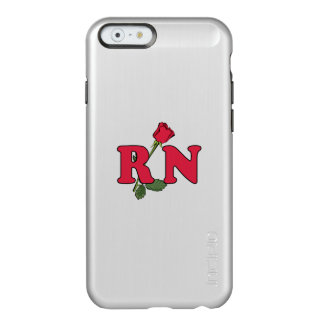 Enfermera del RN subió Funda Para iPhone 6 Plus Incipio Feather Shine