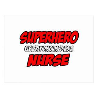 Enfermera del super héroe… postal