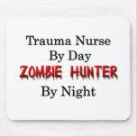 Enfermera del trauma/cazador del zombi alfombrillas de ratones