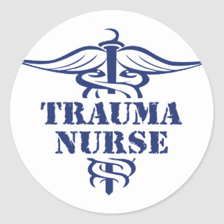 enfermera del trauma pegatinas redondas