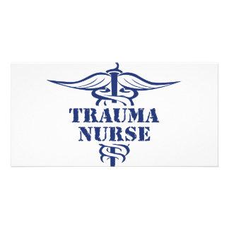 enfermera del trauma tarjetas con fotos personalizadas