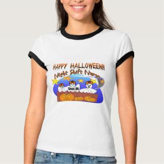 Enfermera del turno de noche del feliz Halloween Playera