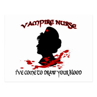 Enfermera del vampiro (he venido dibujar su tarjetas postales