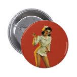 Enfermera del vintage modela pin