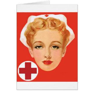 Enfermera del vintage tarjeta de felicitación