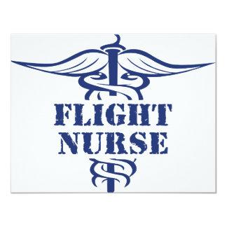 enfermera del vuelo invitación 10,8 x 13,9 cm