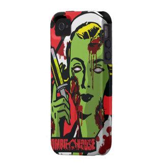 Enfermera del zombi del caso del iPhone 4 del iPhone 4 Funda