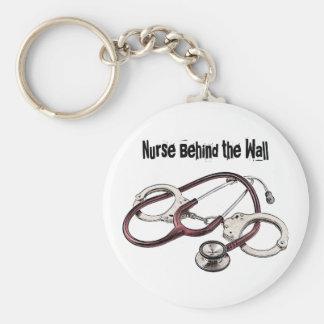 Enfermera detrás del llavero correccional de la en