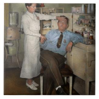 Enfermera - día enfermo - 1937 azulejo cuadrado grande