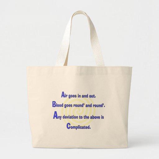 Enfermera divertida o regalos respiratorios de la  bolsas lienzo