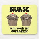 Enfermera divertida tapetes de raton