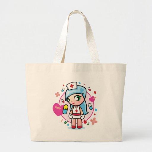 enfermera dulce bolsa de tela grande