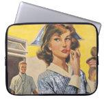 Enfermera en el vagabundeo mangas portátiles