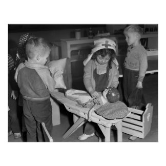 Enfermera en Training, 1943 Póster