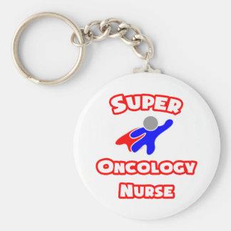 Enfermera estupenda de la oncología llavero redondo tipo pin