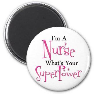 Enfermera estupenda imán redondo 5 cm