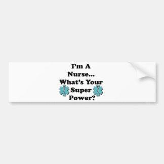 Enfermera estupenda pegatina para auto