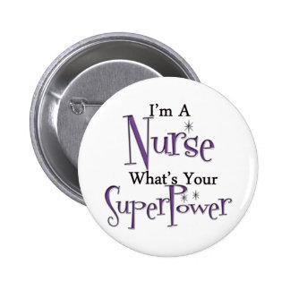 Enfermera estupenda pin redondo 5 cm
