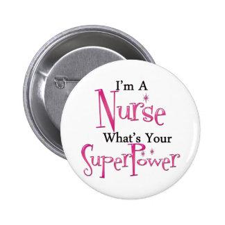 Enfermera estupenda pin redondo de 2 pulgadas