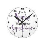 Enfermera estupenda reloj de pared