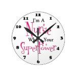 Enfermera estupenda relojes de pared