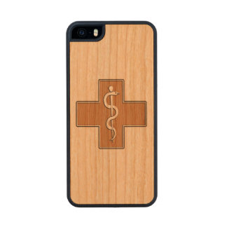 Enfermera Funda De Cerezo Carved® Para iPhone 5 Slim