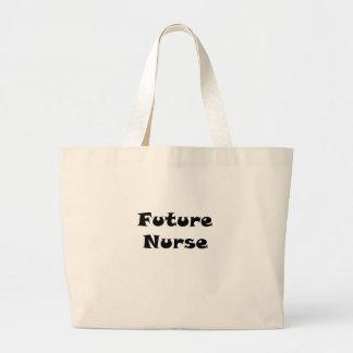 Enfermera futura bolsa lienzo