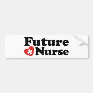 Enfermera futura pegatina para auto