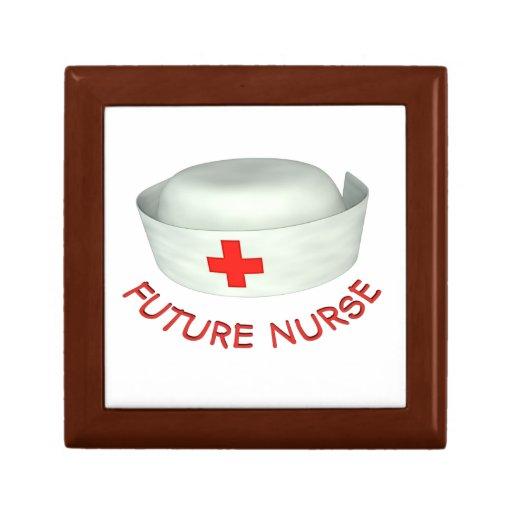 Enfermera futura joyero cuadrado pequeño