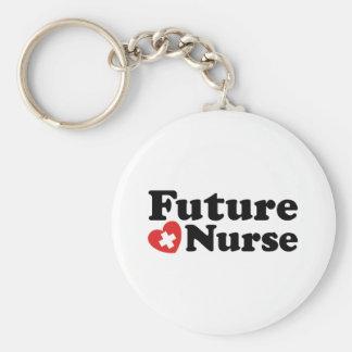 Enfermera futura llavero personalizado