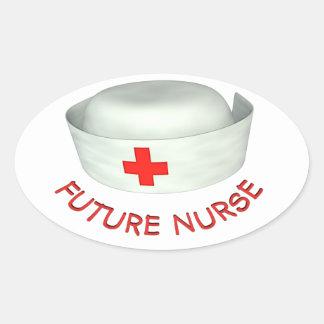 Enfermera futura pegatina ovalada