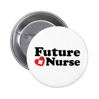 Enfermera futura pin redondo de 2 pulgadas