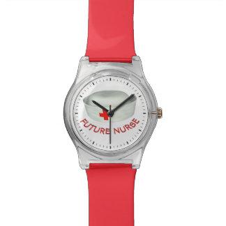 Enfermera futura reloj de mano