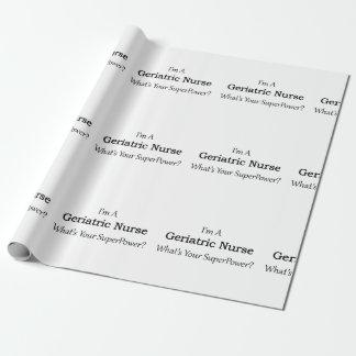 Enfermera geriátrica papel de regalo